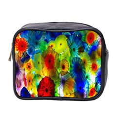 Green Jellyfish Yellow Pink Red Blue Rainbow Sea Mini Toiletries Bag 2-Side