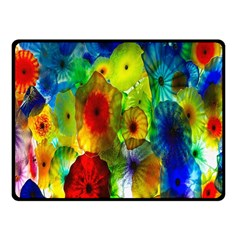 Green Jellyfish Yellow Pink Red Blue Rainbow Sea Fleece Blanket (Small)