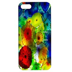 Green Jellyfish Yellow Pink Red Blue Rainbow Sea Apple iPhone 5 Hardshell Case with Stand