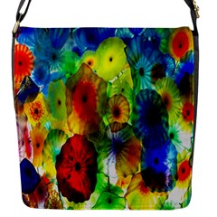 Green Jellyfish Yellow Pink Red Blue Rainbow Sea Flap Messenger Bag (S)