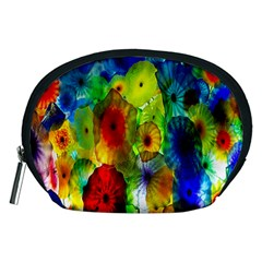 Green Jellyfish Yellow Pink Red Blue Rainbow Sea Accessory Pouches (Medium)