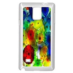 Green Jellyfish Yellow Pink Red Blue Rainbow Sea Samsung Galaxy Note 4 Case (White)