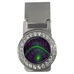 Light Cells Colorful Space Greeen Money Clips (cz)