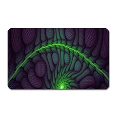 Light Cells Colorful Space Greeen Magnet (Rectangular)