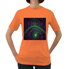 Light Cells Colorful Space Greeen Women s Dark T-Shirt