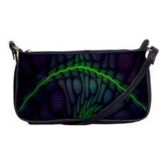 Light Cells Colorful Space Greeen Shoulder Clutch Bags