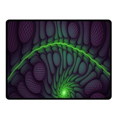 Light Cells Colorful Space Greeen Fleece Blanket (Small)