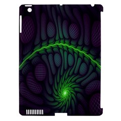 Light Cells Colorful Space Greeen Apple iPad 3/4 Hardshell Case (Compatible with Smart Cover)