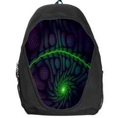 Light Cells Colorful Space Greeen Backpack Bag