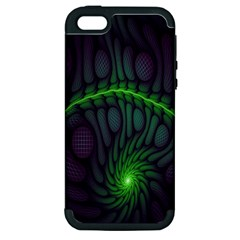 Light Cells Colorful Space Greeen Apple iPhone 5 Hardshell Case (PC+Silicone)