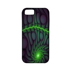 Light Cells Colorful Space Greeen Apple Iphone 5 Classic Hardshell Case (pc+silicone)