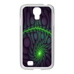 Light Cells Colorful Space Greeen Samsung GALAXY S4 I9500/ I9505 Case (White)