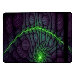 Light Cells Colorful Space Greeen Samsung Galaxy Tab Pro 12.2  Flip Case
