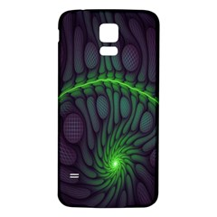 Light Cells Colorful Space Greeen Samsung Galaxy S5 Back Case (White)