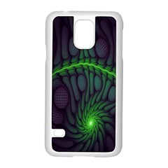 Light Cells Colorful Space Greeen Samsung Galaxy S5 Case (White)