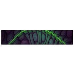 Light Cells Colorful Space Greeen Flano Scarf (Small)