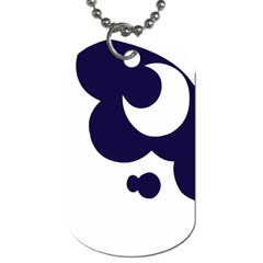 Month Blue Dog Tag (one Side)