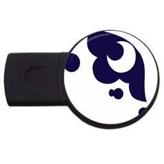 Month Blue USB Flash Drive Round (1 GB)
