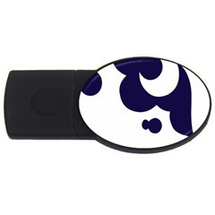Month Blue USB Flash Drive Oval (2 GB)