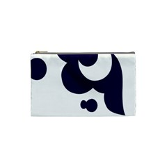 Month Blue Cosmetic Bag (small)