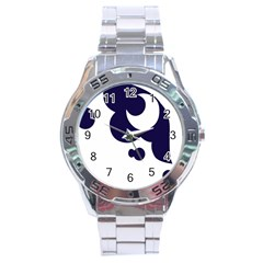 Month Blue Stainless Steel Analogue Watch
