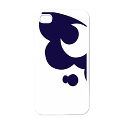Month Blue Apple Iphone 4 Case (white)