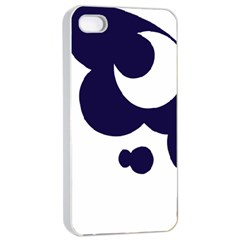 Month Blue Apple iPhone 4/4s Seamless Case (White)