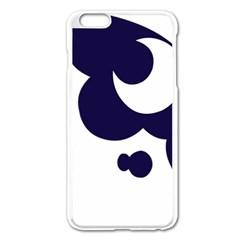 Month Blue Apple iPhone 6 Plus/6S Plus Enamel White Case