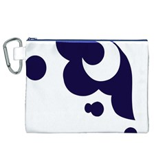 Month Blue Canvas Cosmetic Bag (XL)