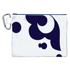 Month Blue Canvas Cosmetic Bag (XXL)