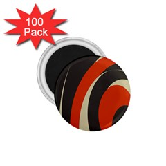 Mixing Gray Orange Circles 1.75  Magnets (100 pack)