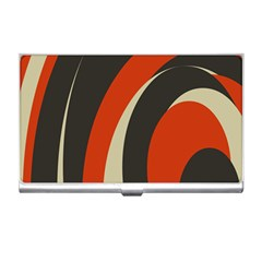 Mixing Gray Orange Circles Business Card Holders