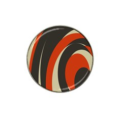 Mixing Gray Orange Circles Hat Clip Ball Marker (10 pack)