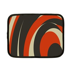 Mixing Gray Orange Circles Netbook Case (Small)