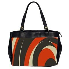 Mixing Gray Orange Circles Office Handbags (2 Sides)