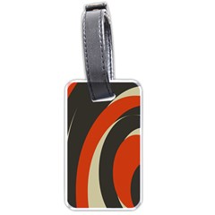 Mixing Gray Orange Circles Luggage Tags (One Side)