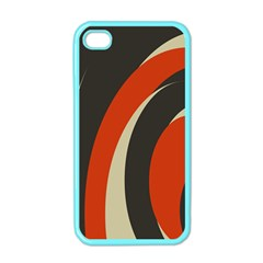 Mixing Gray Orange Circles Apple iPhone 4 Case (Color)