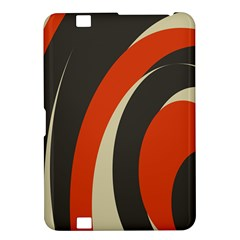 Mixing Gray Orange Circles Kindle Fire HD 8.9