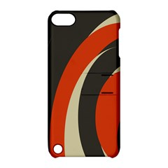 Mixing Gray Orange Circles Apple iPod Touch 5 Hardshell Case with Stand