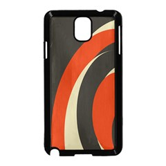 Mixing Gray Orange Circles Samsung Galaxy Note 3 Neo Hardshell Case (Black)