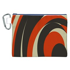 Mixing Gray Orange Circles Canvas Cosmetic Bag (XXL)