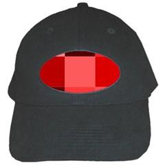 Red Flag Plaid Black Cap