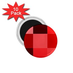 Red Flag Plaid 1 75  Magnets (10 Pack)