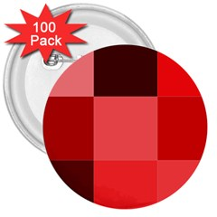 Red Flag Plaid 3  Buttons (100 pack)