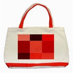 Red Flag Plaid Classic Tote Bag (Red)