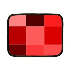 Red Flag Plaid Netbook Case (Small)