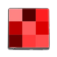 Red Flag Plaid Memory Card Reader (Square)