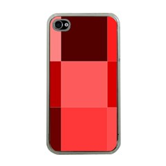 Red Flag Plaid Apple Iphone 4 Case (clear)