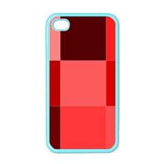 Red Flag Plaid Apple iPhone 4 Case (Color)