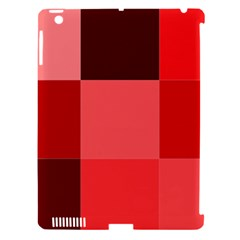 Red Flag Plaid Apple iPad 3/4 Hardshell Case (Compatible with Smart Cover)